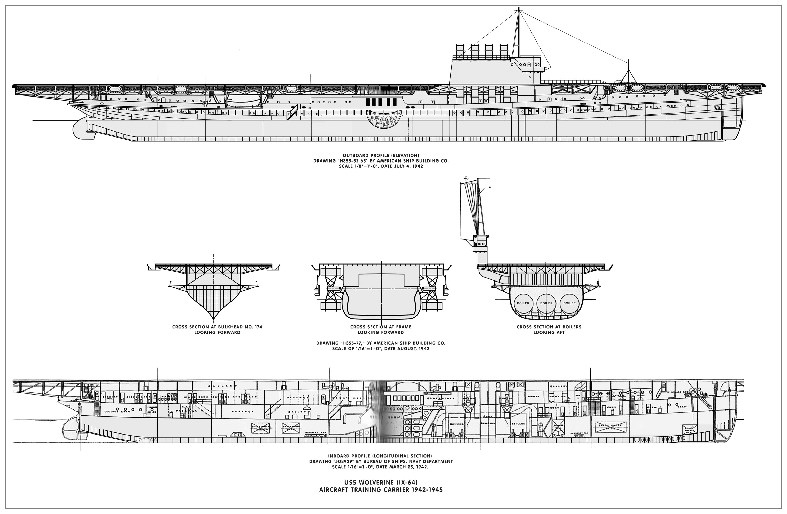 on aircraft carrier schematic diagram