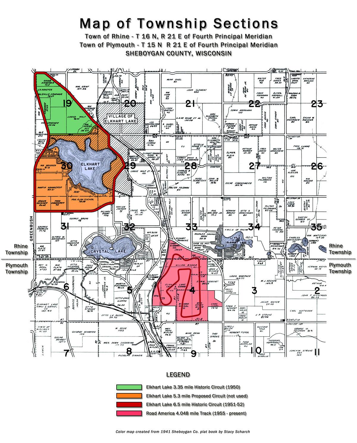 Elkhart Lake Circuits - Map of america wisconsin